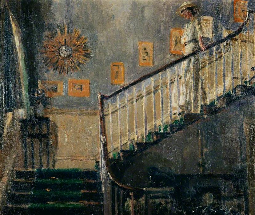 famous painting Ethel Sands Descending the Staircase at Newington of Walter Richard Sickert