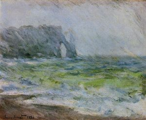 Claude Monet - Etretat in the Rain