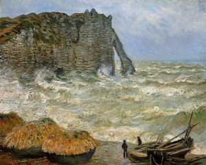 Claude Monet - Etretat, Rough Sea