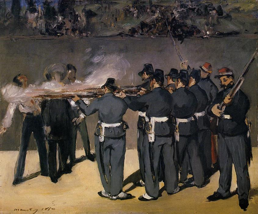 famous painting The Execution of the Emperor Maximillian of Edouard Manet