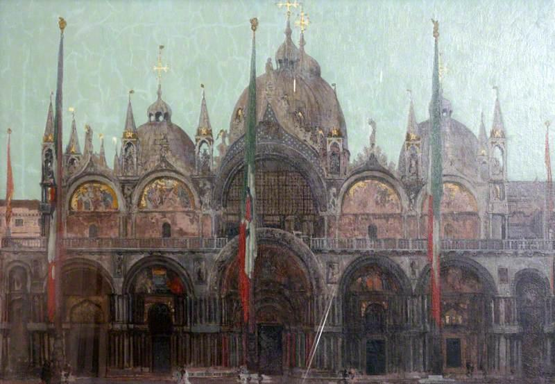famous painting The Façade of San Marco, Venice of Walter Richard Sickert