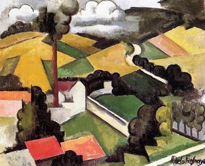 Roger De La Fresnaye - The Factory Chimney, Meulan Landscape