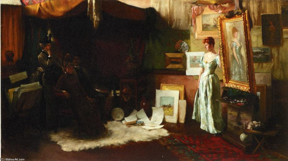famous painting Fair Critics of Charles Courtney Curran