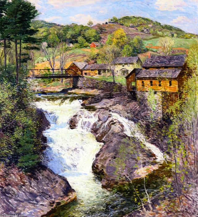 famous painting The Falls of Willard Leroy Metcalf