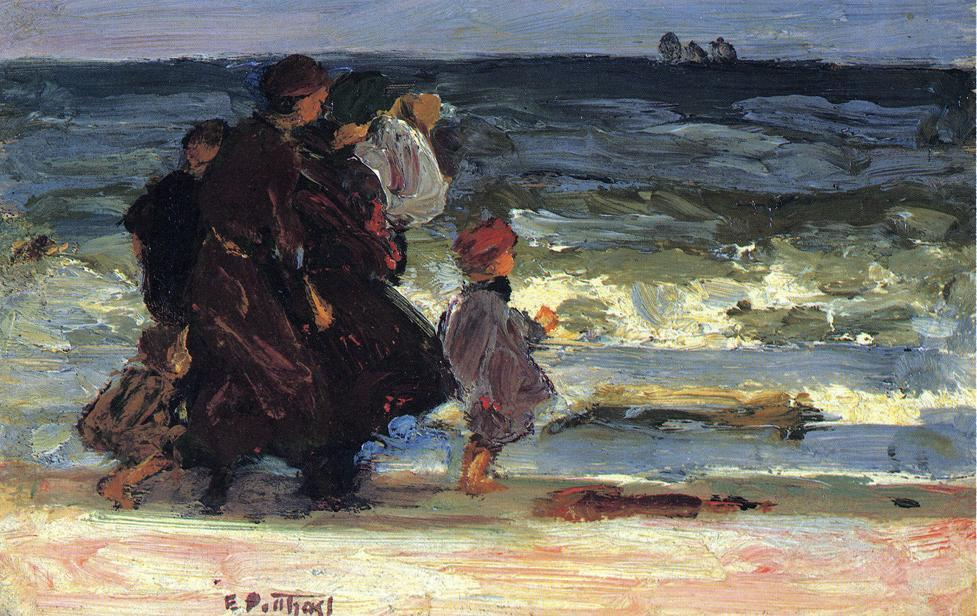 famous painting A Family at the Beach of Edward Henry Potthast