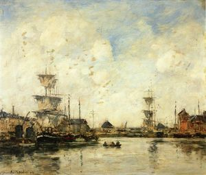Eugène Louis Boudin - Fecamp, the Harbor