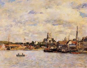 Eugène Louis Boudin - Fecamp, the Port
