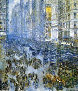 Frederick Childe Hassam - Fifth Avenue in Winter