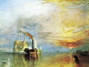William Turner - The Fighting Temeraire'', Tugged to her Last Berth To Be Broken Up, 1838''