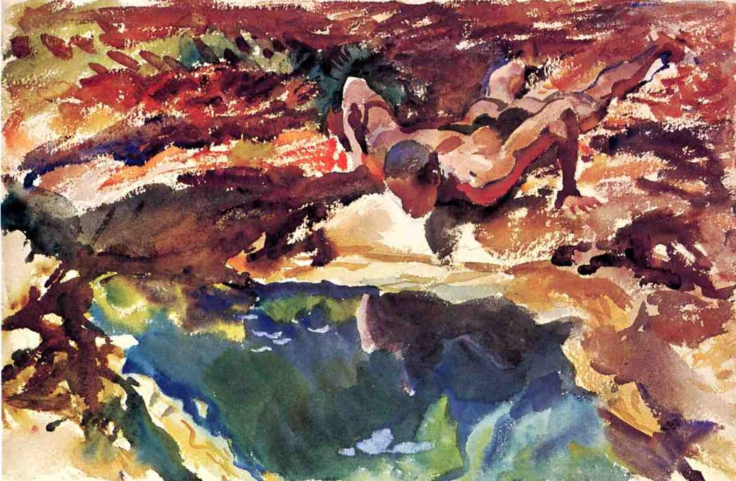 famous painting Figure and Pool of John Singer Sargent