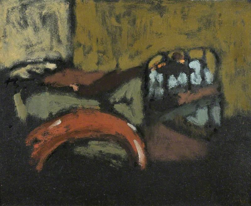 famous painting Figure Lying on an Iron Bed of Walter Richard Sickert
