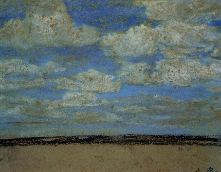 famous painting Fine Weather on the Estuary of Eugène Louis Boudin