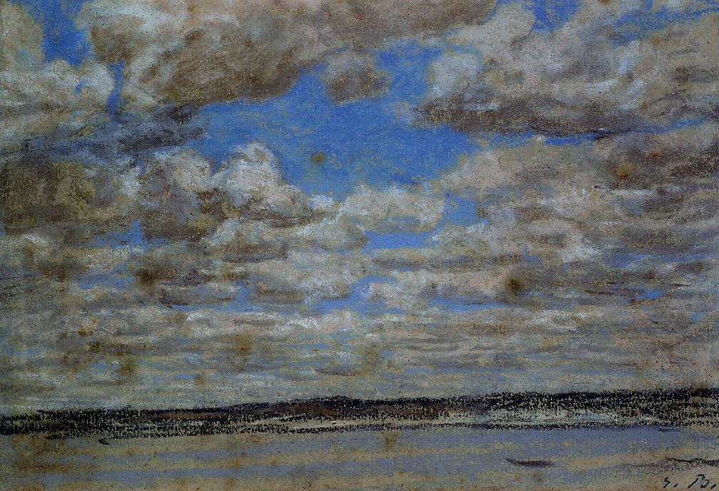 famous painting Fine Weather, White Clouds of Eugène Louis Boudin