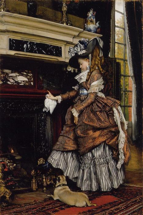 famous painting The Fireplace of James Jacques Joseph Tissot