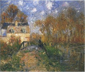 Gustave Loiseau - Fisherman by the Eure