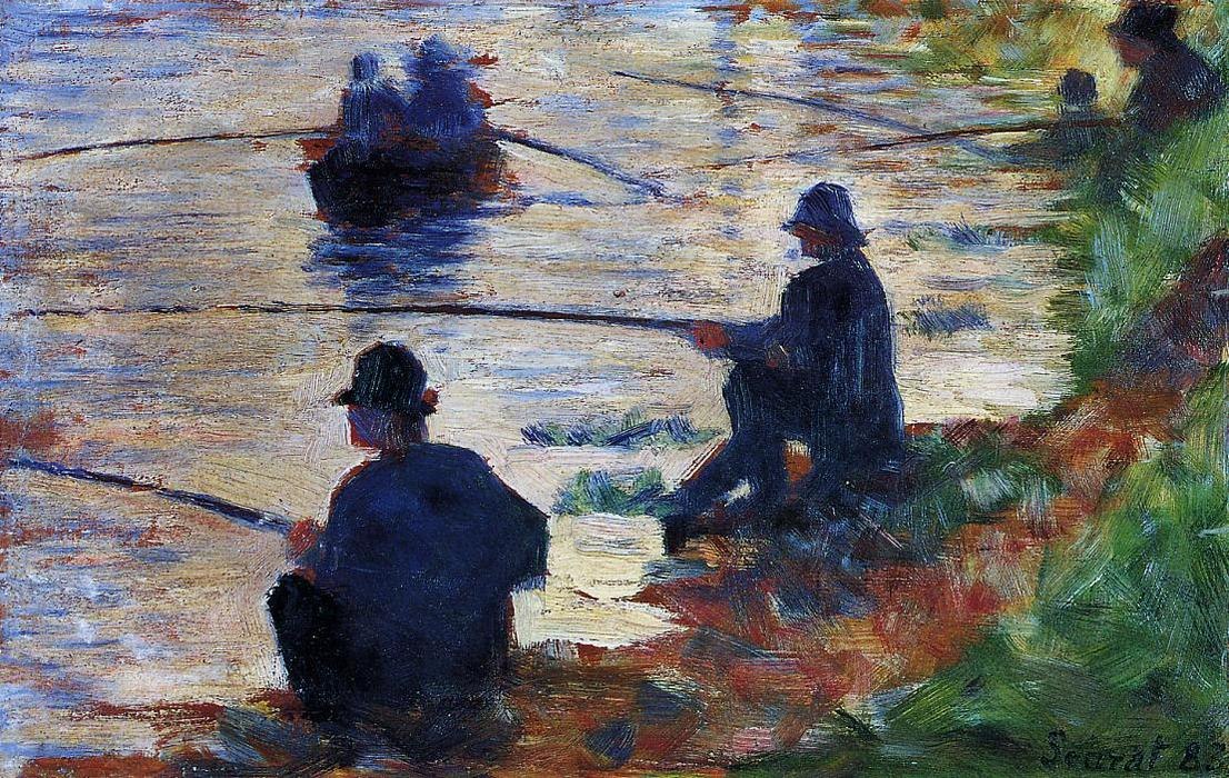 famous painting Fishermen of Georges Pierre Seurat