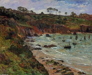 Maxime Emile Louis Maufra - Fishing for Sprats in Winter at Douarnenez