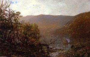 William Louis Sonntag - Fishing in the Adirondacks