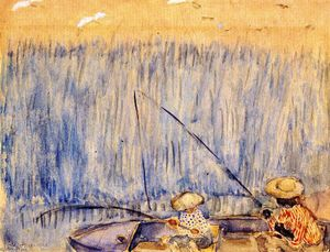 Frederick Carl Frieseke - Fishing in the Swamp