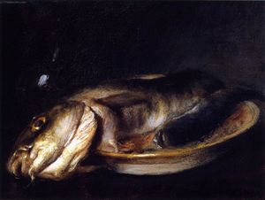 William Merritt Chase - Fish on a Plate