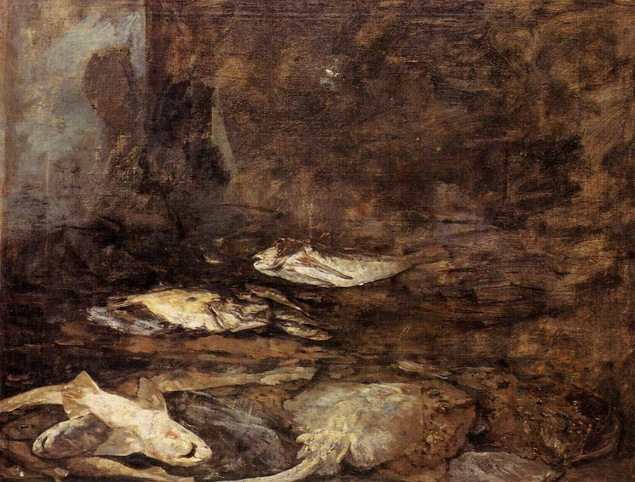 famous painting Fish, Skate and Dogfish of Eugène Louis Boudin