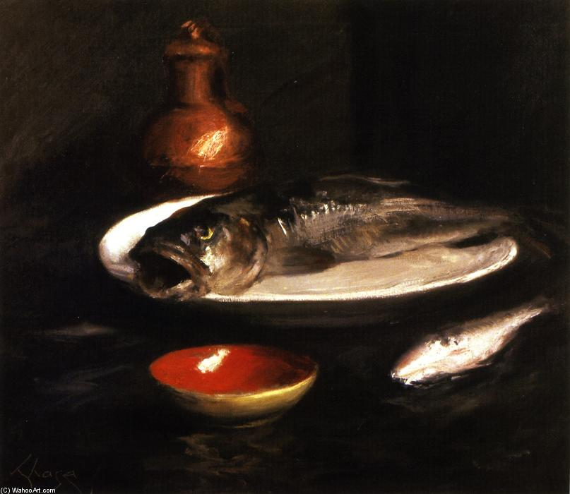 famous painting Fish Still LIfe of William Merritt Chase