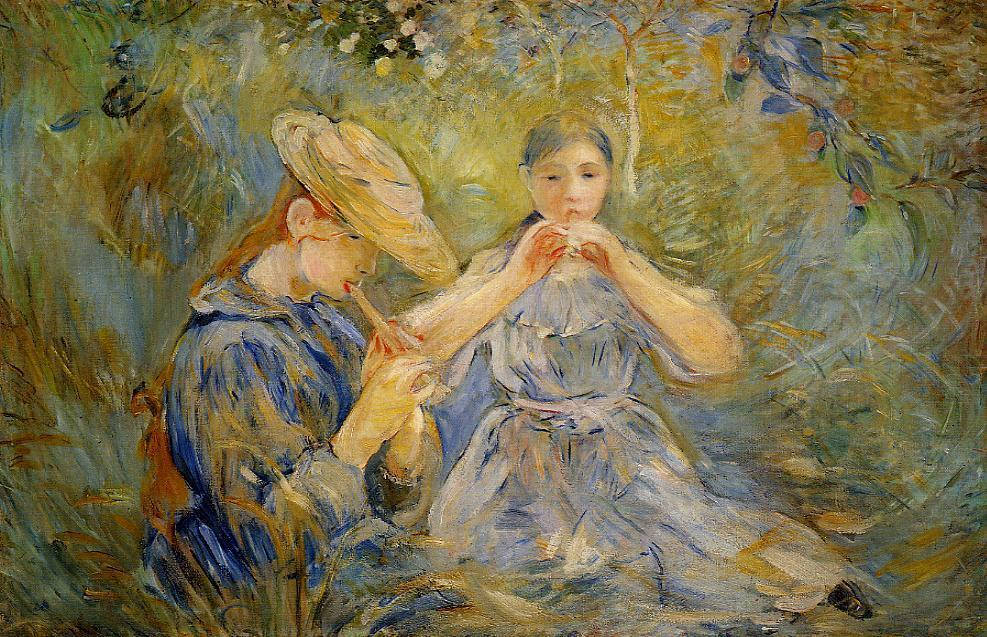 famous painting The Flageolet of Berthe Morisot