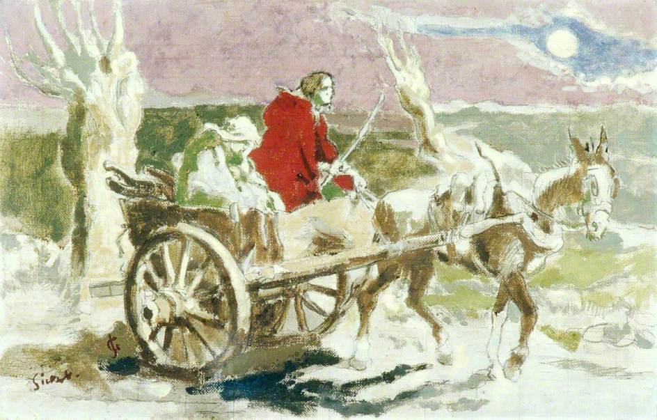 famous painting The Flight into Egypt of Walter Richard Sickert