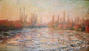Claude Monet - Floating Ice