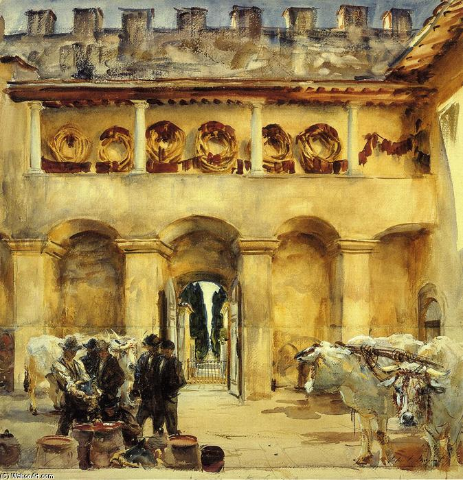 famous painting Florence: Torre Galli of John Singer Sargent