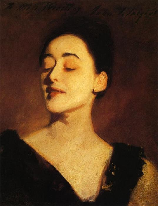 famous painting Flora Priestley (also known as Lamplight Study) of John Singer Sargent