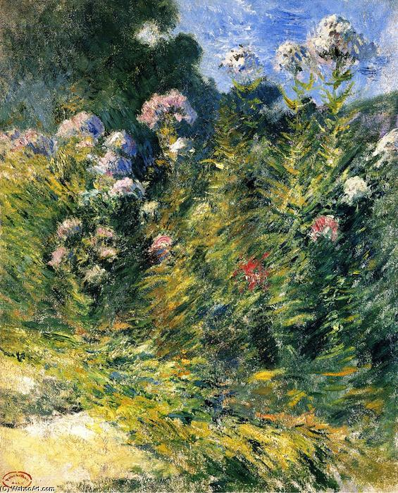 famous painting The Flower Garden of John Henry Twachtman