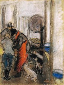 Jozsef Rippl Ronai - Flox and Filox in the Kitchen