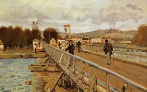 Alfred Sisley - Footbridge at Argenteuil
