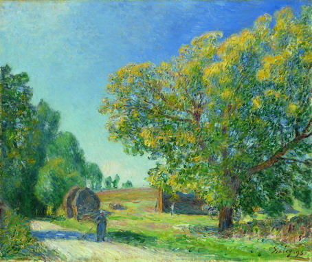 famous painting A Forest Clearing of Alfred Sisley