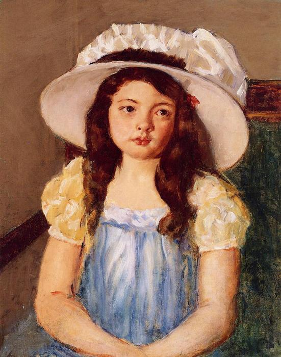 famous painting Francoise Wearing a Big White Hat of Mary Stevenson Cassatt