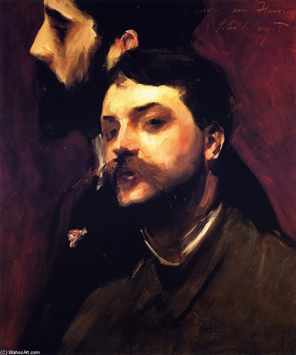 famous painting Francois Flameng and Paul Helleu of John Singer Sargent