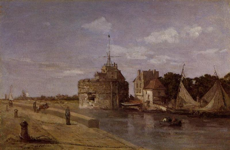 famous painting The Francois I Tower at Le Havre of Eugène Louis Boudin