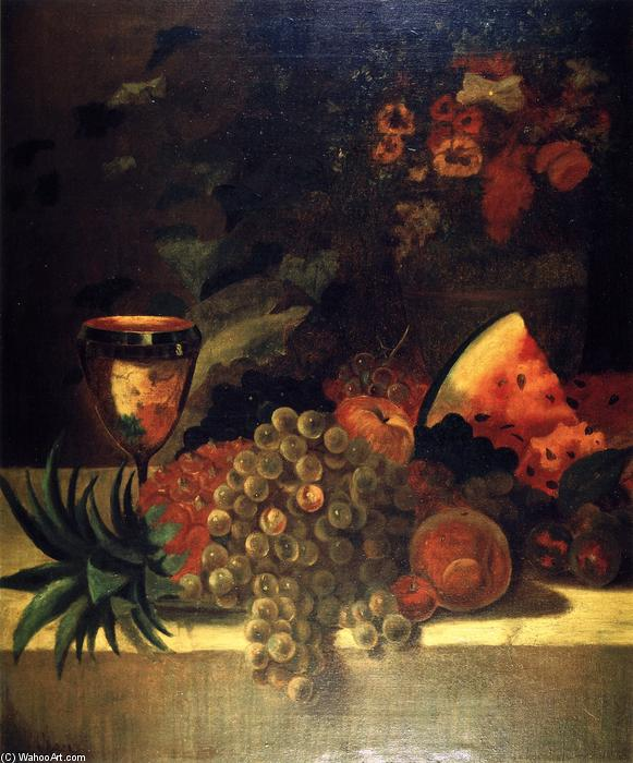 famous painting Fruit and Flower Still LIfe (B) of William Merritt Chase