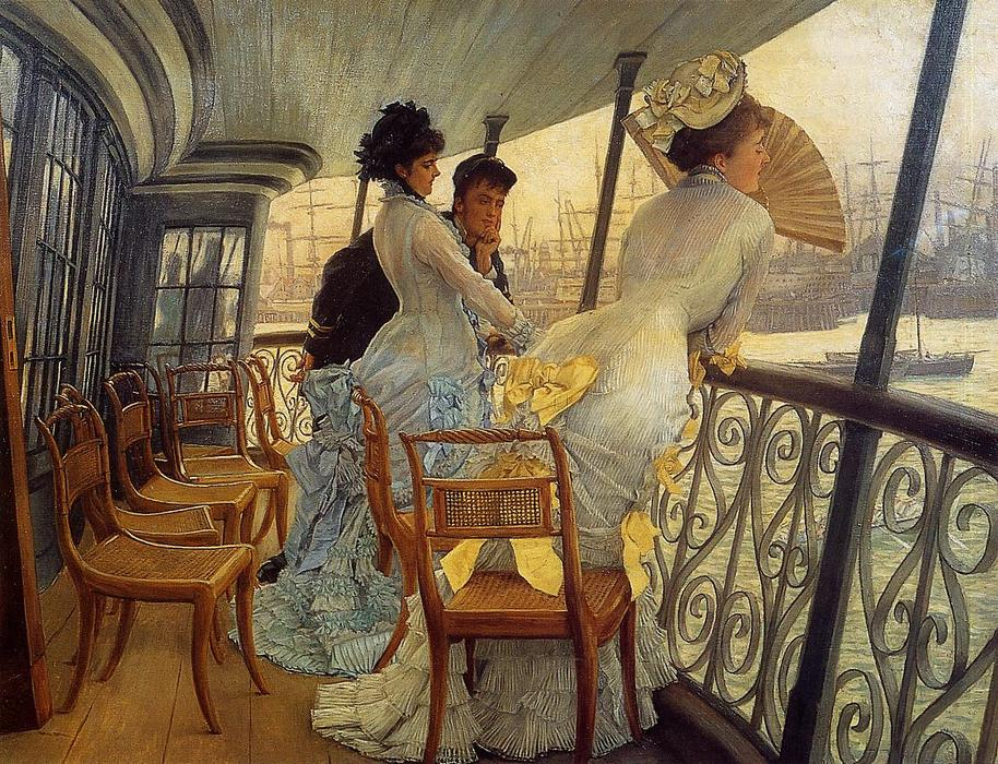 famous painting The Gallery of the H.M.S. Calcutta of James Jacques Joseph Tissot