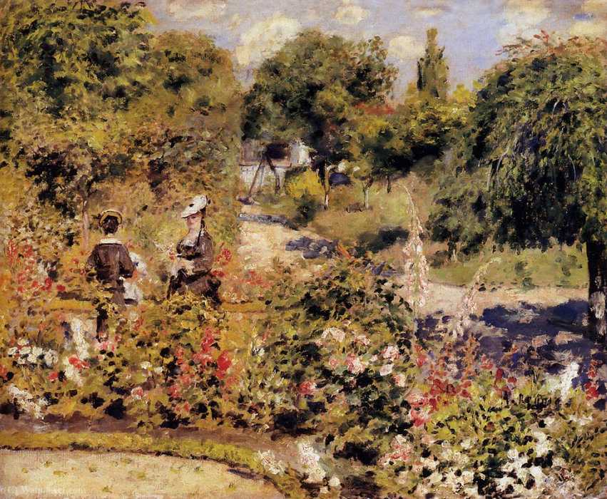 famous painting The Garden at Fontenay of Pierre-Auguste Renoir