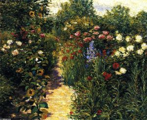 John Leslie Breck - Garden at Giverny (also known as In Monet's Garden)