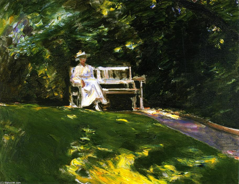 famous painting The Garden Bench of Max Liebermann