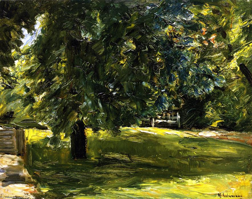 famous painting Garden Bench beneath the Chestnut Tree in the Wannsee Garden of Max Liebermann