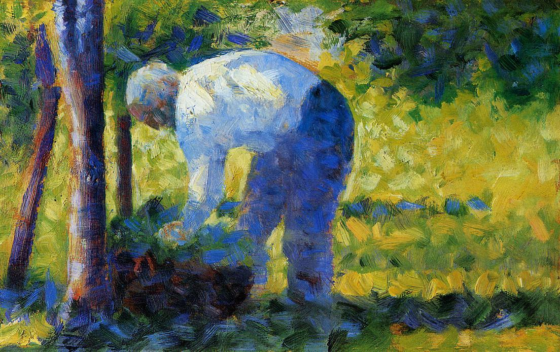 famous painting The Gardener of Georges Pierre Seurat