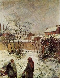 Paul Gauguin - The Garden in Winter, rue Carcel (also known as Snow, Rue Carcel II)