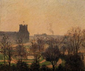 Camille Pissarro - Garden of the Louvre: Fog Effect
