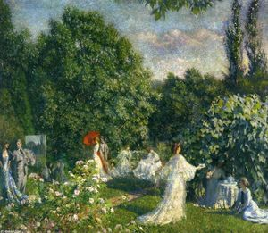 Philip Leslie Hale - Garden Party