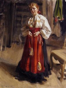 Anders Leonard Zorn - Girl in an Orsa Costume