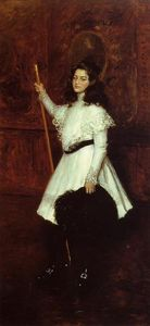 William Merritt Chase - Girl in White (also known as Portrait of Irene Dimock)